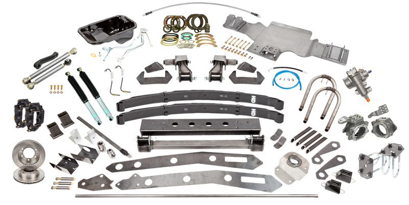 Tacoma SAS Kit B, 96-04, 4'' Leaf Springs, 12'' Shocks, 2.7L