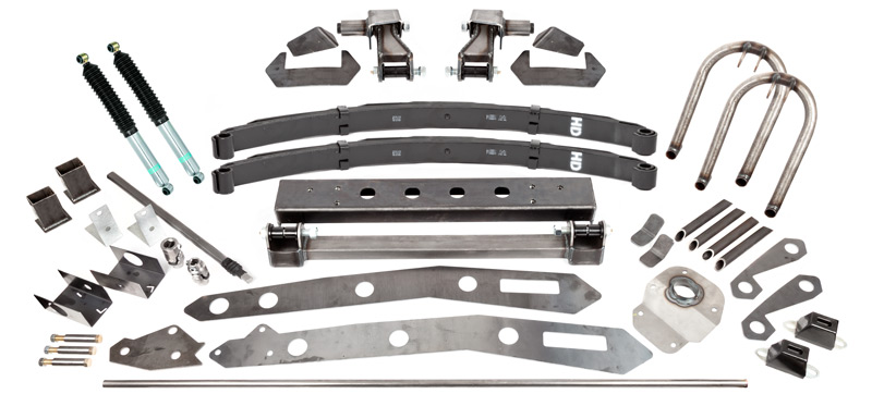 Tacoma SAS Kit A, 1995.5, 4'' Leaf Spring, 12'' Shocks