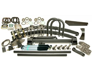 Kit Classic Front Lift 3'' Springs 12'' Shocks Rhd 4-Stud Arms Drop Pitman 5.0'' Shackle